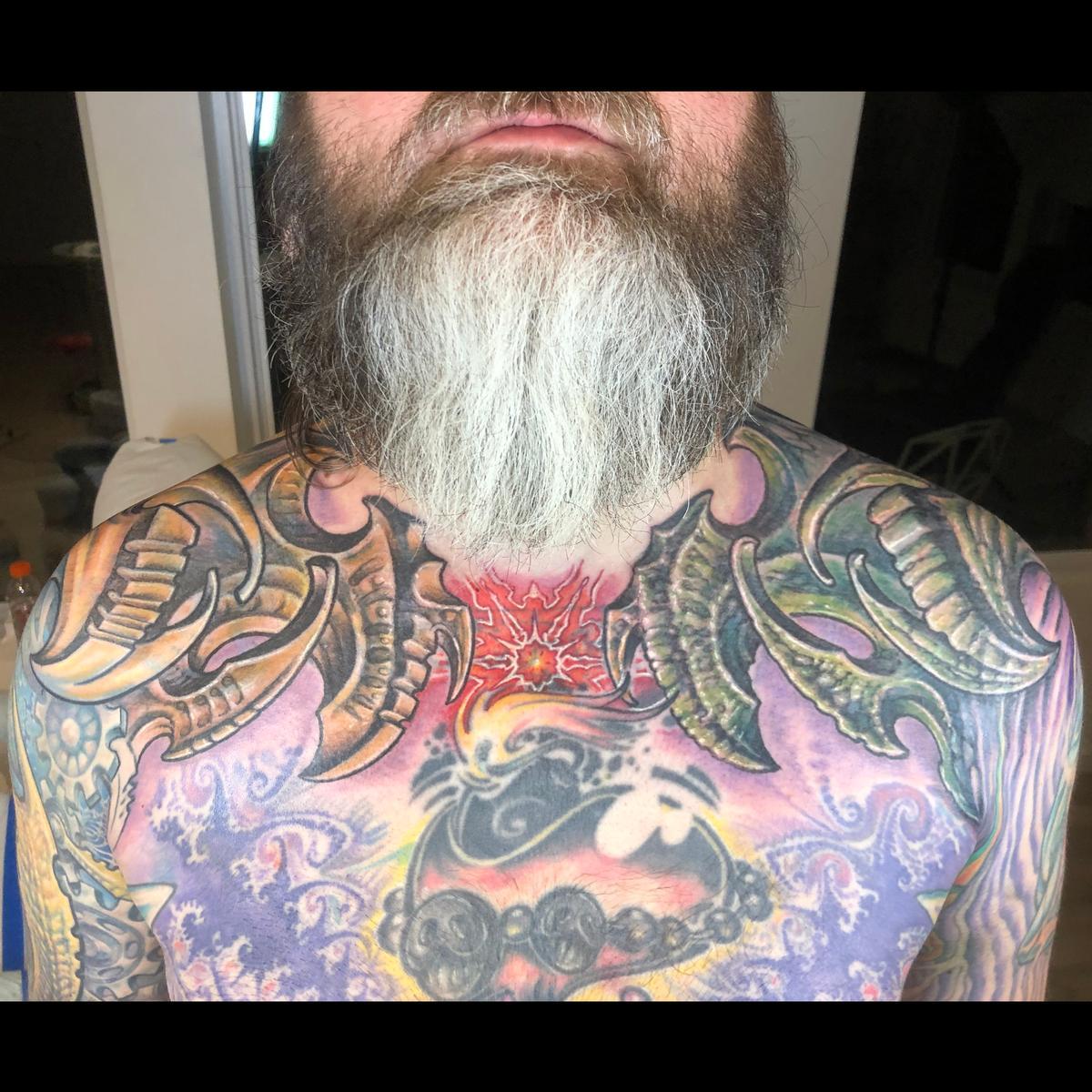Stylized Tattoo Dragon Men/'s Tie Clip Tack Bar