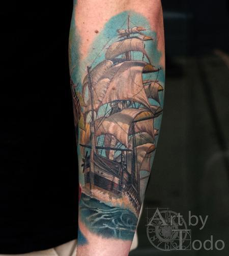 Tattoos - Clipper Ship - 123514