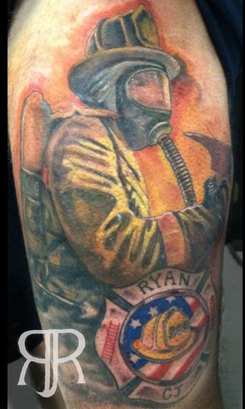 Firefighter Cover Up By Ryan Jones Tattoonow
