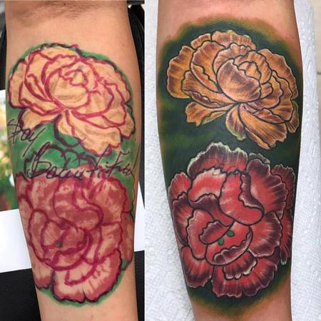 Tattoos - Flowers/ cover up - 128575