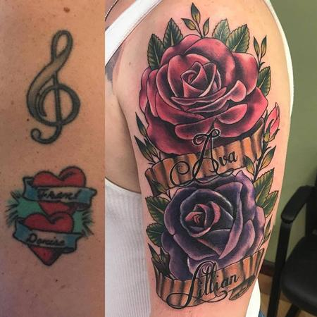 Tattoos - Rose Cover Up by Chad Pelland - 134220
