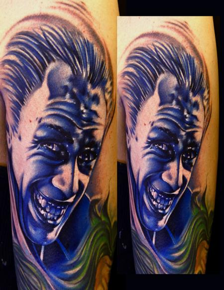 Tattoos - The Man Who Laughs Color Portrait Tattoo - 63761