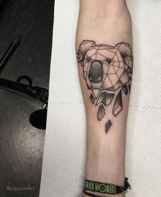 koala tattoo by artemiy tattoonow rh tattoonow com koala tattoo meaning koala bear tattoos meaning