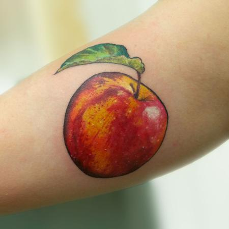Tattoos - apple tattoo - 131955
