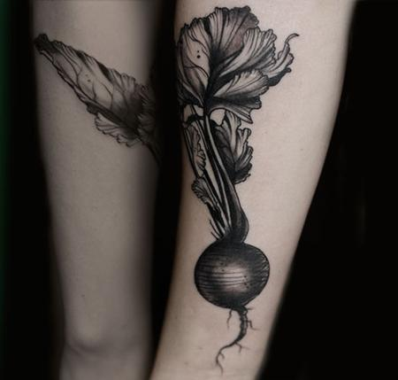 Tattoos - radish vintage vegetable tattoo - 131940