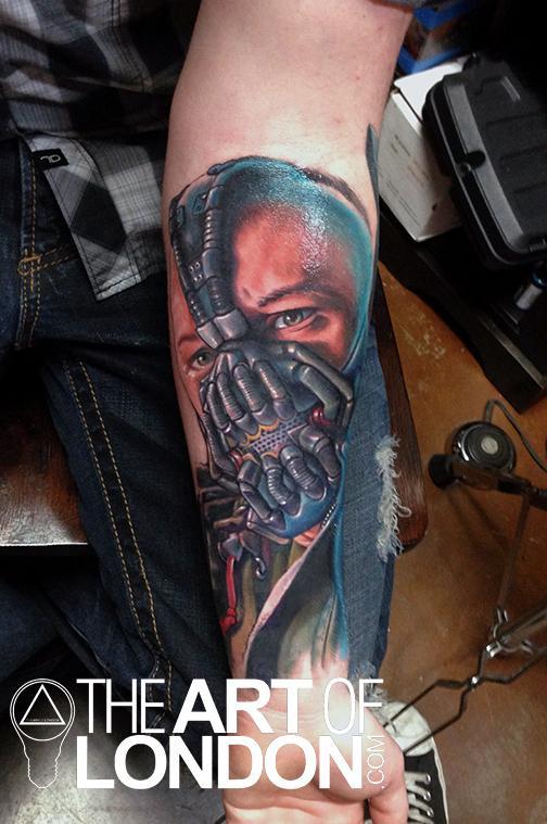 Bane Dark Knight Rises Tattoo By London Reese TattooNOW