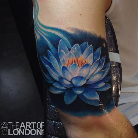 Tattoos - Blue Lotus Flower Tattoo - 93987