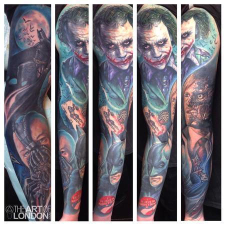 Tattoos - Batman Dark Knight Sleeve - 93984