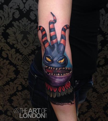 Tattoos - Nightmare Before Christmas Harlequinn Demon Tattoo - 92190