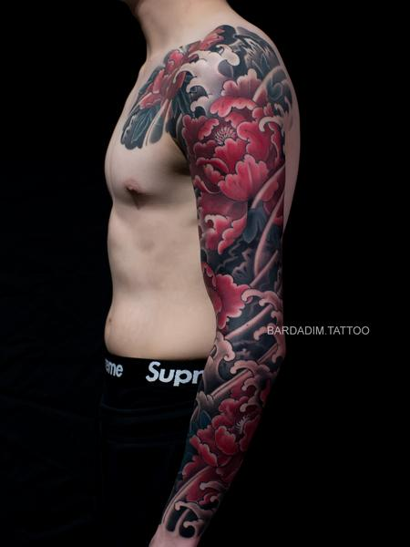 Tattoos - Botan Japanese Tattoo. Japanese Full Sleeve Tattoo - 133179