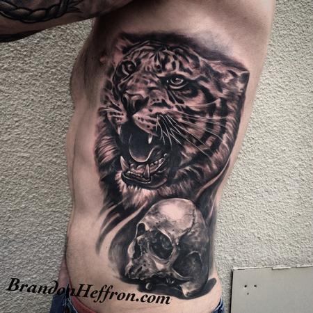 Tattoos - Tiger and Skull - 123410