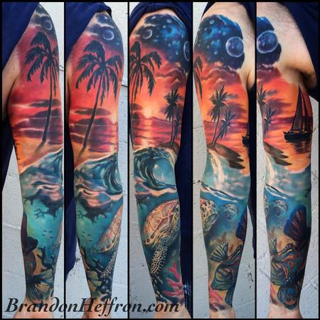 Tattoos - Ocean sunset - 128734