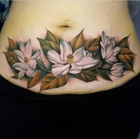 Stomach flower tattoo Design Thumbnail