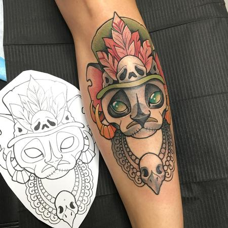 Tattoos - Voodoo cat - 134684