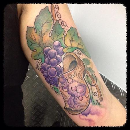 Tattoos - French wine tribute - 101866