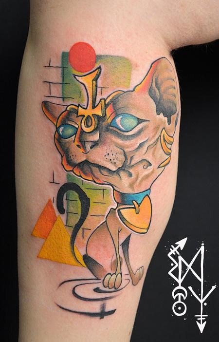 Tattoos - SPHYNX cat - 112277