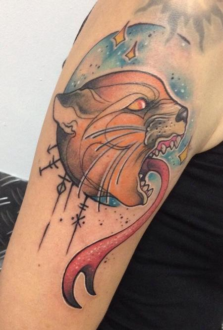 Tattoos - Angry cat - 99703