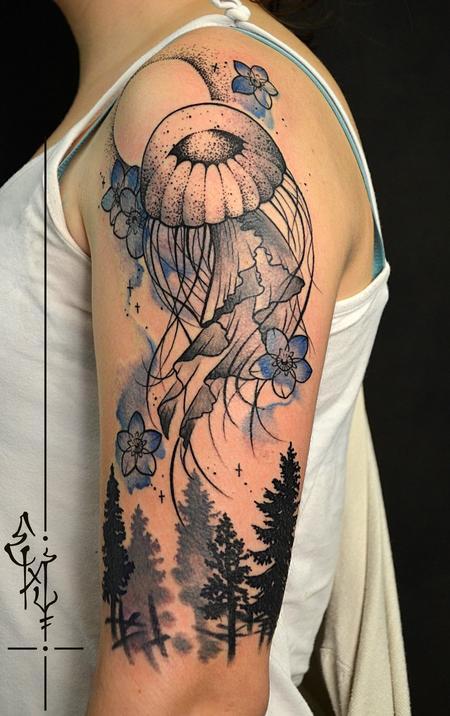 Tattoos - Médusa from The sky - 123601