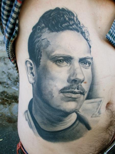 Tattoos - Portrait of author John Steinbeck - 132371