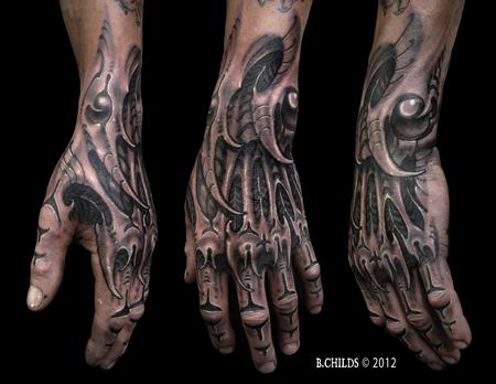 Tattoos - Biomech Hand - 132422