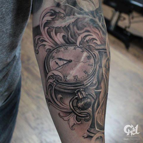 5fe44348a87b0 Pocket Watch Tattoo by Capone: TattooNOW :