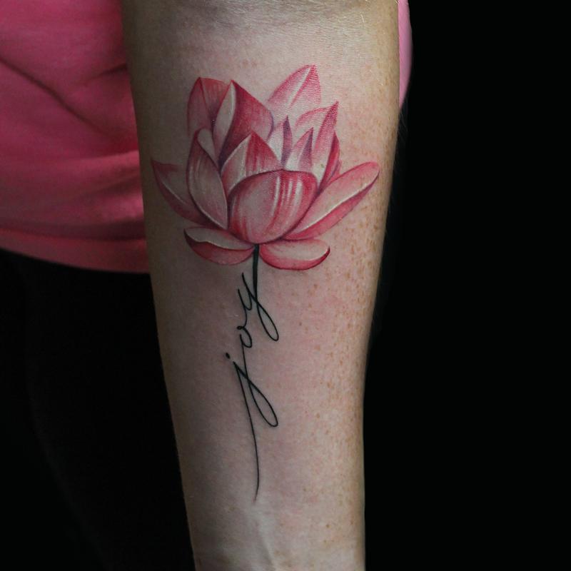 Joy lotus flower by capone tattoonow capone joy lotus flower mightylinksfo