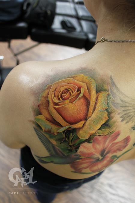 Tattoos - Yellow Rose Tattoo - 133317