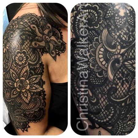 Christina Walker - Lace Inspired Half Sleeve