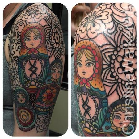 Christina Walker - Russian Nesting Doll 1/2 sleeve