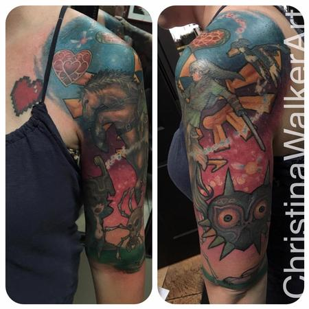 Christina Walker - Legend Of Zelda Half Sleeve