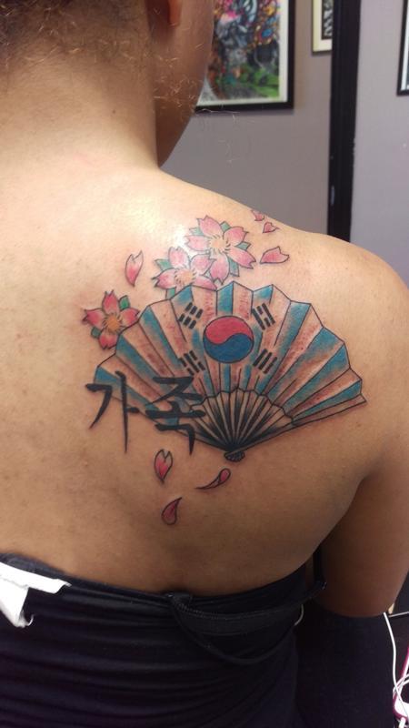 Tattoos - asian fan - 116843