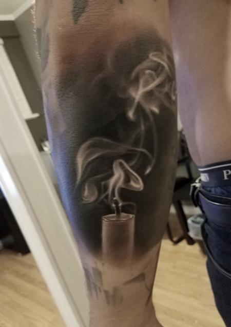 Tattoos - David Vega Smokey Candle - 131070