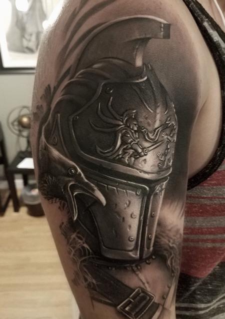 Tattoos - David Vega Armor and Crow - 131078