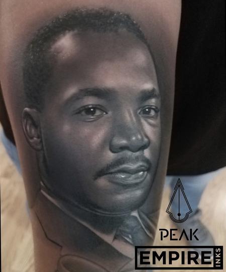 Tattoos - MLK Portrait Tattoo - 130636