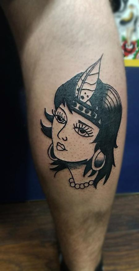 Tattoos - Traditional Flapper Girl - 133569