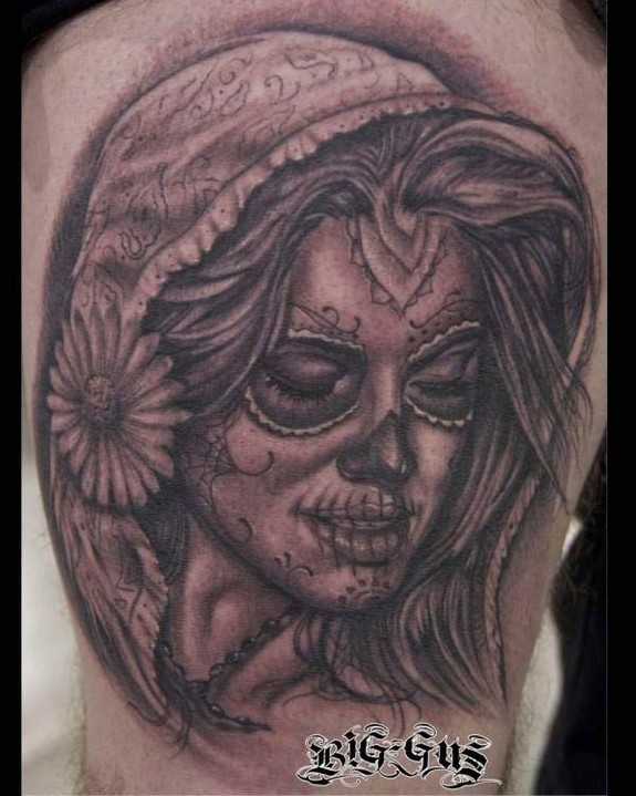 Colorful Sugar Skull Tattoo Designs and Meanings - Tattoos Win