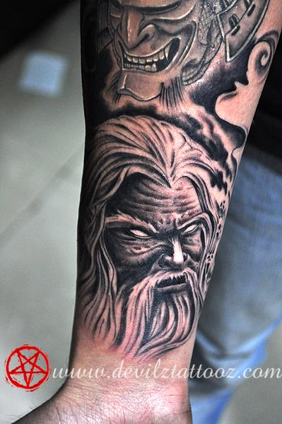 Tattoos - Demon wizard - 71469