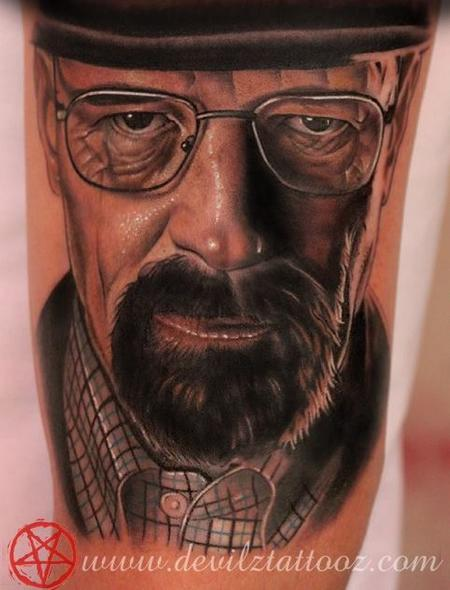 Tattoos - Heisenberg breaking bad Walter white tattoo - 80595
