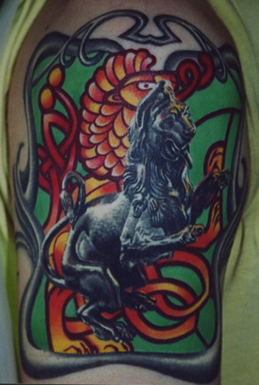 Celitc lion by cory cudney tattoonow for Cory james tattoo