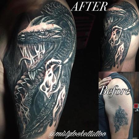 Tattoos - Dragon cover up - 132216