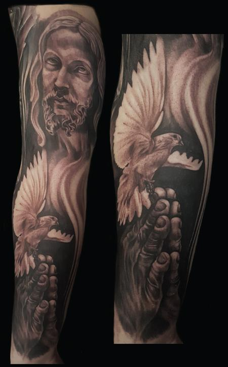 Tattoos - religious piece - 123820