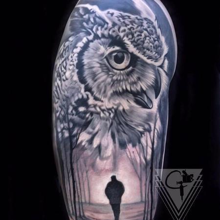 Chris Peters - Owl Tattoo
