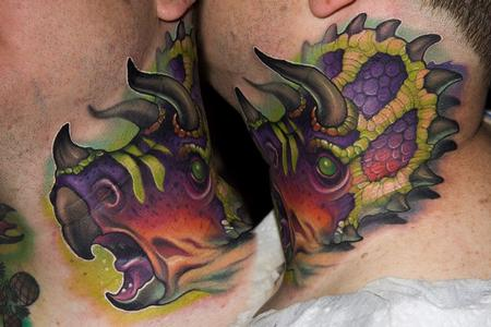 Tattoos - Dinosaur Neck tattoo - 113678