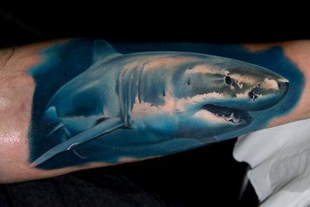 Tattoos - Realistic Shark Tattoo - 113679