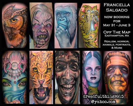 Tattoos - Francella Salgado Now Booking - 127659