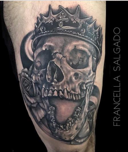 Tattoos - Game of Thrones Inspired Skull - 129816
