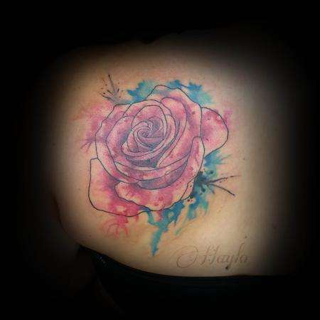 Haylo - Custom watercolor style rose