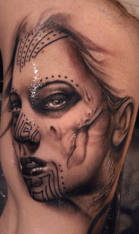 43de03240 Mocho Girl by Ryan Hadley: TattooNOW :