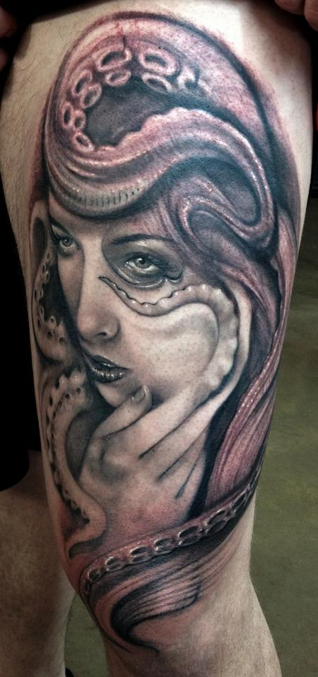 fbb44a802 Octo-Lady by Ryan Hadley: TattooNOW :