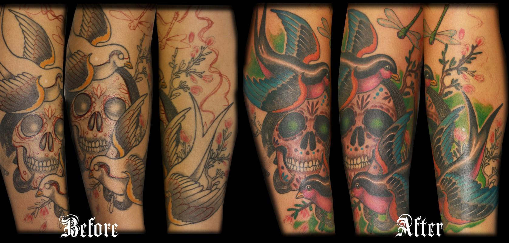 La la leg by aarom hemmersbach tattoonow for Iron lotus tattoo